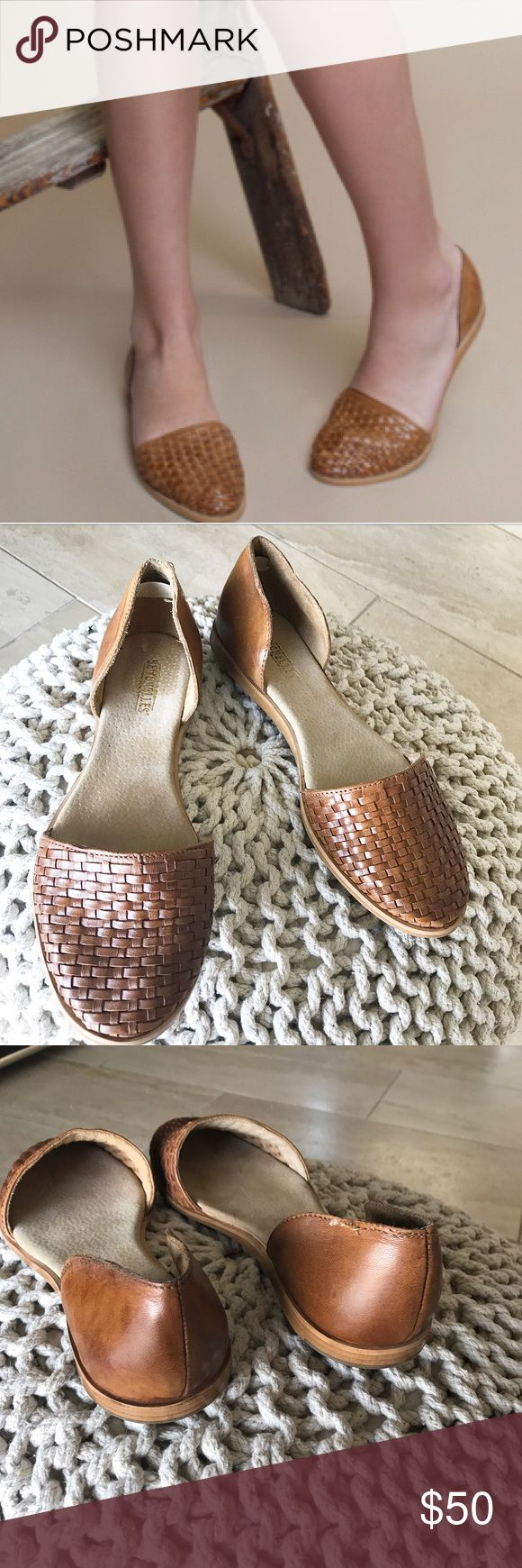 """Seychelles woven leather flats Best in shoes HP! New without box, unworn Seychelles """"eager"""" woven leather d'orsay flats in the color cognac. Simply classic and versatile. Fits true to size. No trades. Seychelles Shoes Flats & Loafers"""