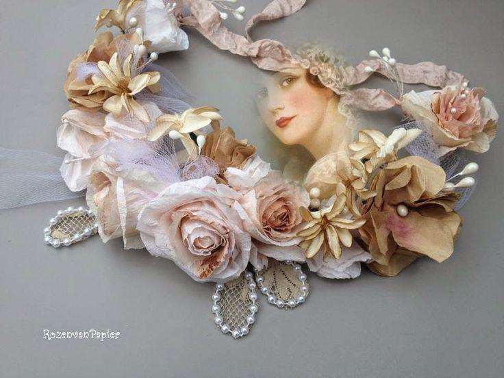 Workshop Rozen van Papier: Nieuwe workshops engelse rozen van papier of brocante kransje