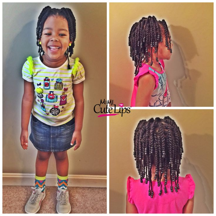 The 25 best natural hairstyles for kids ideas on pinterest lil two strand twist beads natural hairstyles for kids httpmimicutelips urmus Images