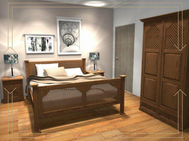 rustykalne meble drewniane wykończone woskiem phoca_thumb_l_drewniane-meble-do-sypialni.jpg (640×480)
