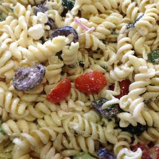 Pasta Greek salad