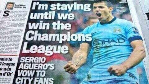 Napastnik Manchesteru City zostanie dopóki nie wygra Ligi Mistrzów • Sergio Aguero do końca kariery w Man City • Wejdź i zobacz >> #aguero #mancity #manchestercity #football #soccer #sports #pilkanozna #funny