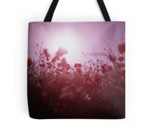 Red wild flowers poppies on hot summer day Hasselblad square medium format film analogue photography Tote Bag