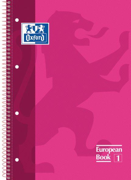 Caderno Executivo 1X1 Oxford Europeanbook 1 - Rosa