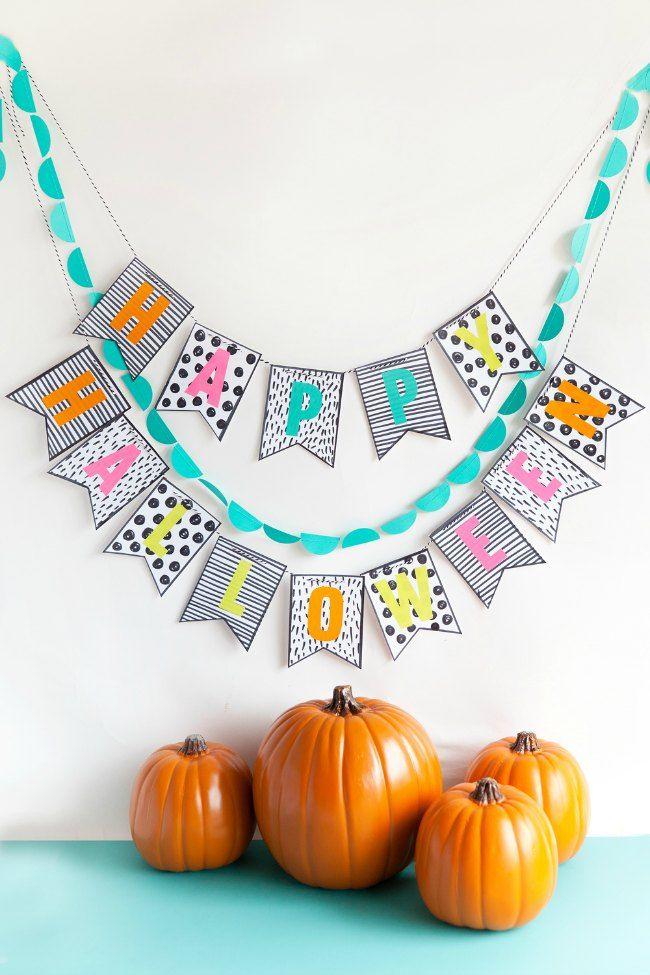 Colorida guirnalda para decorar Halloween - DECORACIÓN FIESTAS