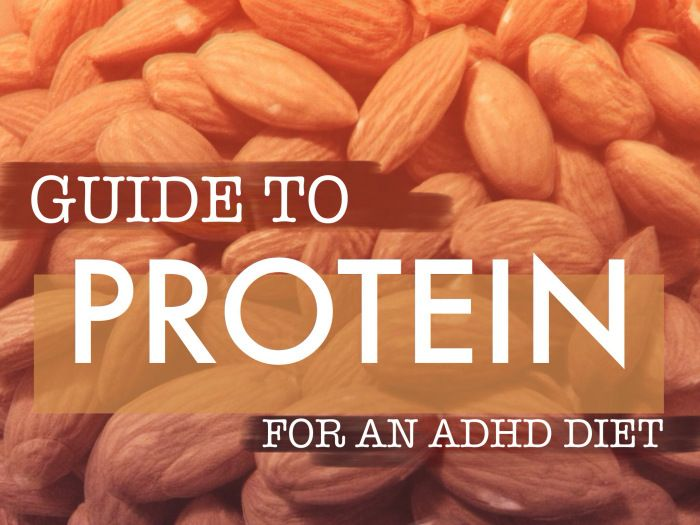 "Guide to Protein for an ADHD Diet - ""Why protein is important: How much a person with ADHD should consume, special considerations while choosing protein sources, and extensive data on protein choices."