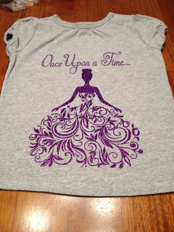 "Heat transfer vinyl ""once upon a time"" with princess shirt"