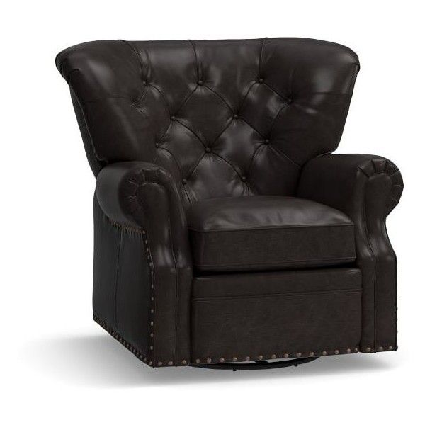 Pottery Barn Lansing Leather Swivel Recliner ($2499) ? liked on Polyvore featuring home  sc 1 st  Pinterest & Best 25+ Swivel recliner ideas on Pinterest | Recliners Recliner ... islam-shia.org