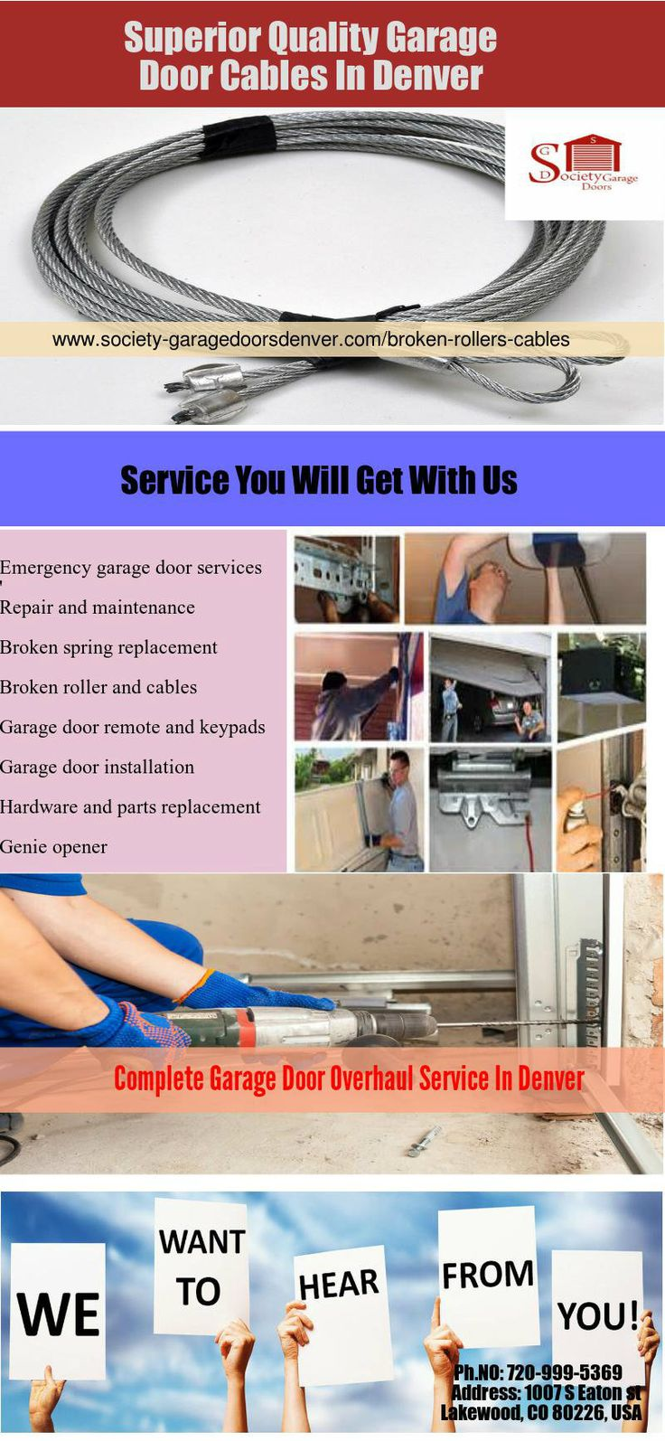 Society Garage Door Provides An Effective And Durable Broken Garage Door  Cable And Roller Replacement U0026 Repair Services In Denver, CO.