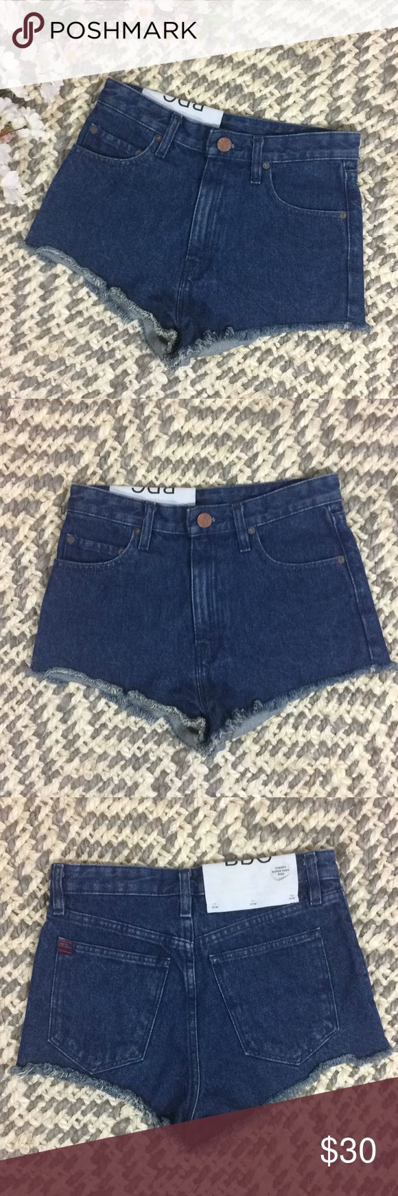 "Urban Outfitters | BDG Cheeky High Rise Shorts 25 NWT Urban Outfitters Cheeky High Rises Denim Jean Shorts Sz 24w  Waist: 14"" Length: 10.5""  Happy shopping! BDG Shorts Jean Shorts"