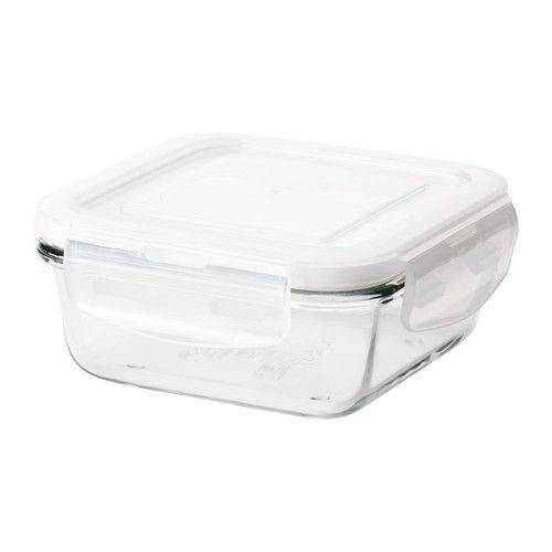 FÖRTROLIG ふた付き容器 IKEA ロックでふたをしっかり密閉できるので、香りを逃さずに食品を新鮮に保存できます 本体は耐熱ガラス製なので、オーブンでの調理に使えます お手入れの簡単なガラス製。匂いが付きにくく、トマトソースなどを入れても色移りしません