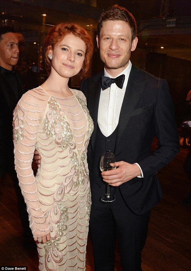Loved-up: James Norton and Jessie Buckley have firmly cemented their status as a rising star couple when they put on a loved-up display at the Olivier Awards in London, on Sunday.