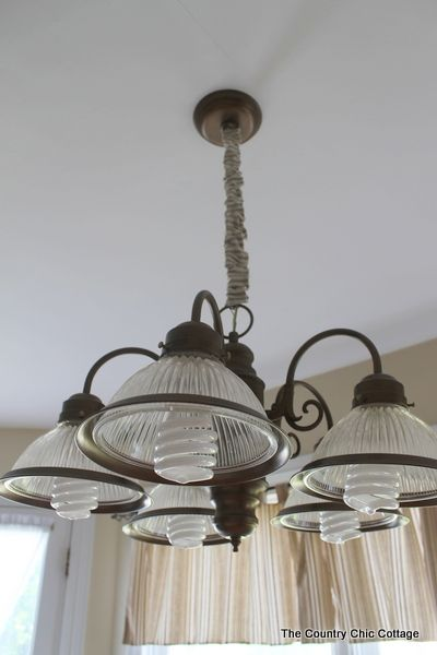 How to spray paint your light fixtures with gelighting for Country lighting fixtures for home
