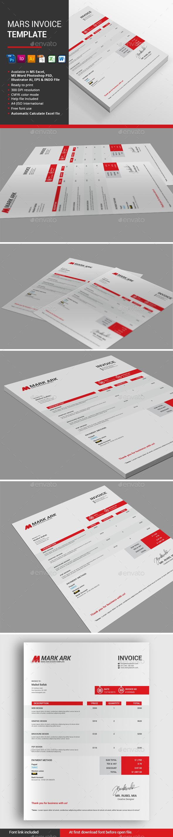 Mars Invoice Template by alimran24 INVOICE BUNDLE