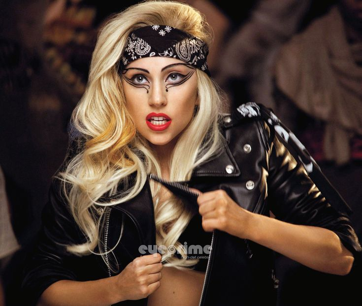 Lady Gaga, she's amazing. This shot is from the Judas vid. If you haven't seen it yet...you're crazy.