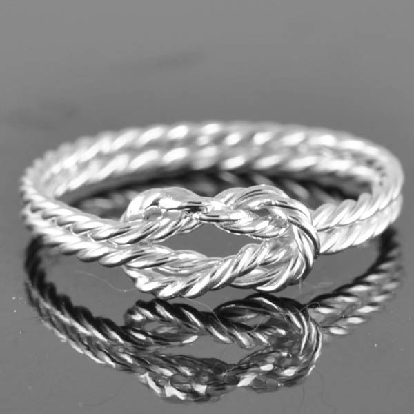 infinity ring, infinity knot ring, sterling silver ring, best friend ring, promise ring,personalized ring, friendship ring, sisters ring. $50.00, via Etsy.