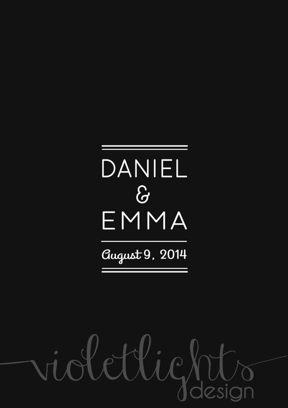 Minimalist Wedding Guestbook Page  Digital by VioletLightsDesign, $35.00