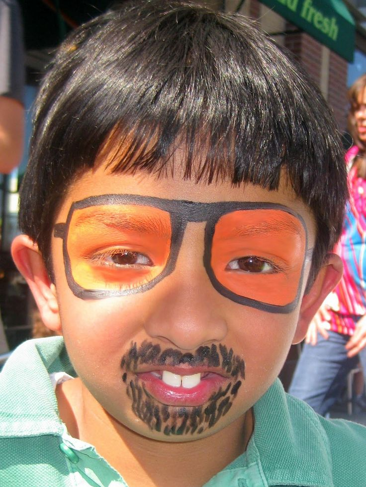 Sunglasses and beard face painting ideas pinterest for Latest face painting designs