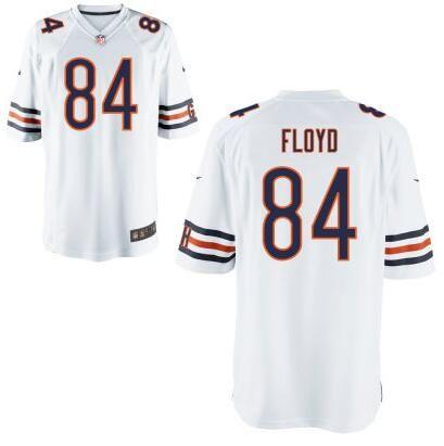 Men's Chicago Bears #84 Leonard Floyd Nike White Elite 2016 Draft Pick Jersey