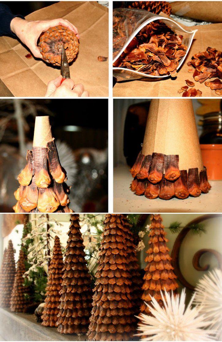 Sapin en pomme de pin : idées diverses pour embellir Noël façon DIY!