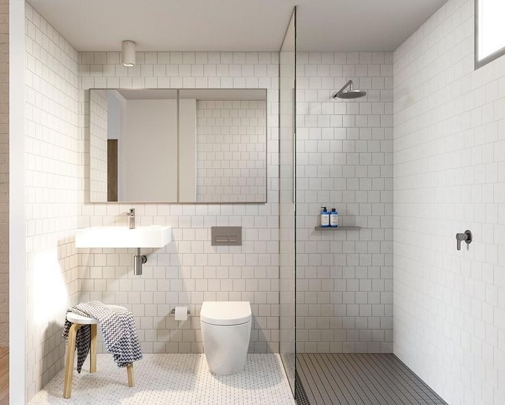 """""""// THREE different types of tiles in such a small space? :) YES you can @beamsprojects + @maarchitects. Recessed storage behind the mirror + voila you've…"""""""