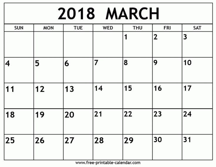 march 2018 calendar images - Jolivibramusic