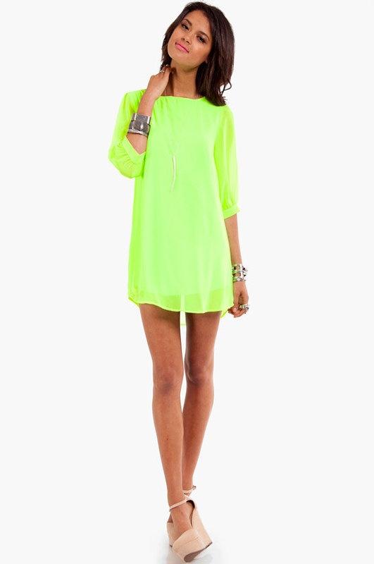Neon colored dresses cheap
