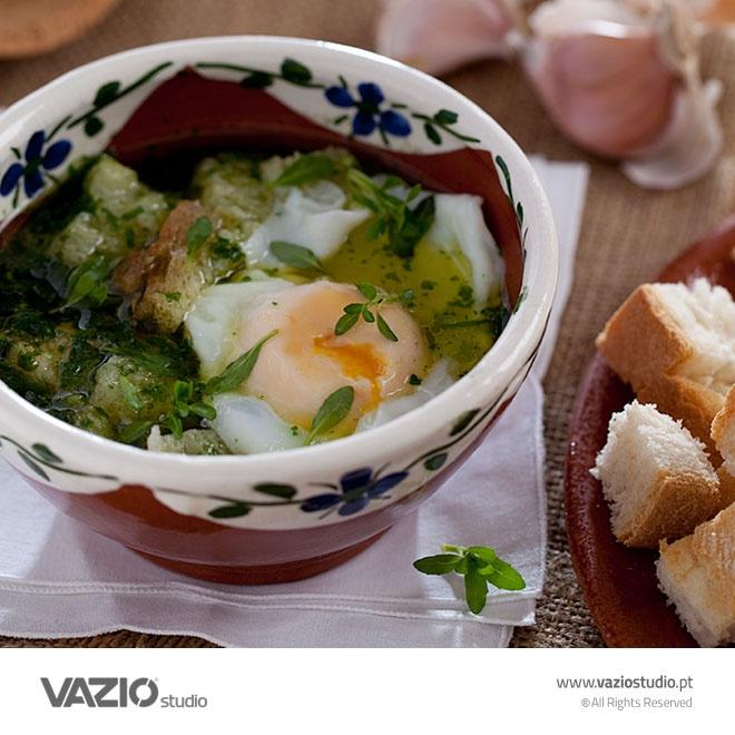 Açorda à Alentejana - an specialty of Casa Mil-Homens, Marvao, Alentejo, Portugal by Vazio Studio / Food Photography, Food Styling, Packshots e Ambientes