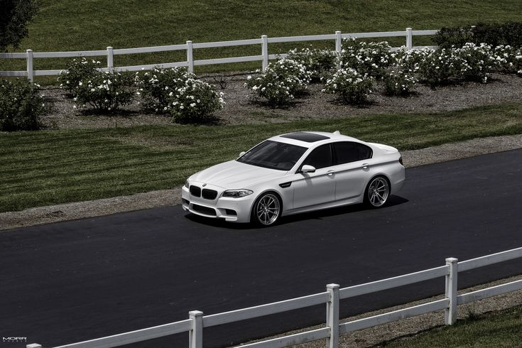 Alpine White BMW F10 M5 With MORR Wheels