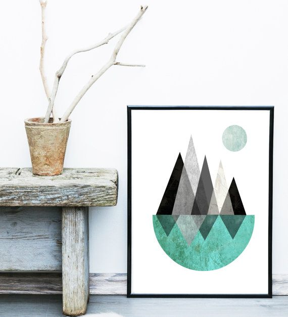 Price now on Etsy $8.50  Abstract Art Printable Art Scandinavian Art Mid by exileprints