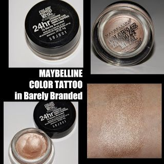MichelaIsMyName: Maybelline Color Tattoo in Barely Branded REVIEW