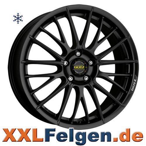 Dotz Rapier dark Alufelgen schwarz matte Aluräder 16 bis 18 Zoll Tunings wheels