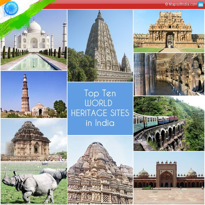 831 best india travel guide images on pinterest india for World heritage site list