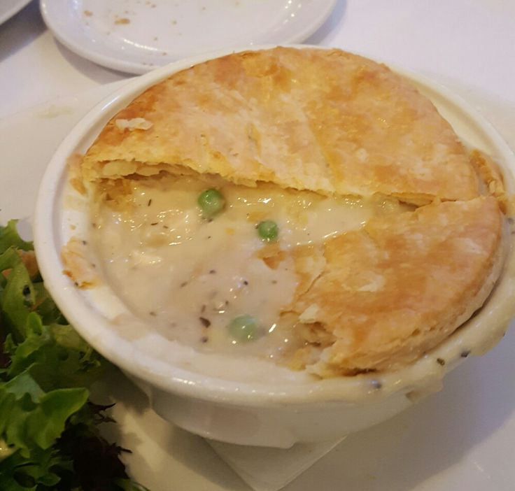The original recipe of The Walnut Rooms famous Chicken Pot Pie is still used today.  Found in Macys Chicago IL