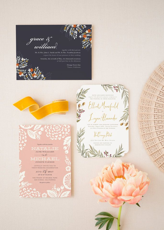 bridal shower invitations registry etiquette%0A   Wedding Invitation Trends That Will Dominate in