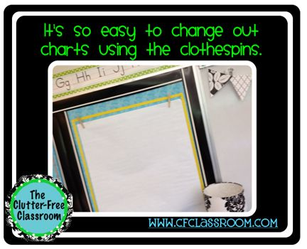 I will be doing this!!!! Clutter-Free Classroom: DESIGNATED CHART SPACES {Classroom 360 Tour}