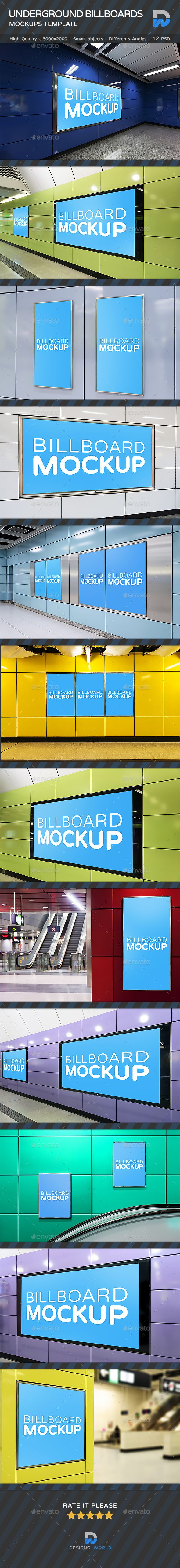 Underground Advertising Mock-ups