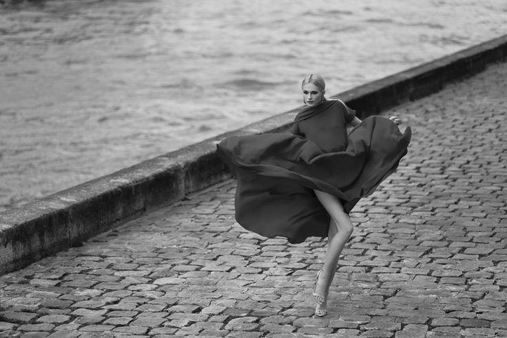 photographer Sebastian Cviq Photography stylist Kasia Michowska  stylist assist Natalia Boreczek  hair & makeup Katja Skauen Jørgensen  model Laurine Daboville @Woman Management Paris  Lewanowicz necklace, Viveka Bergström earrings