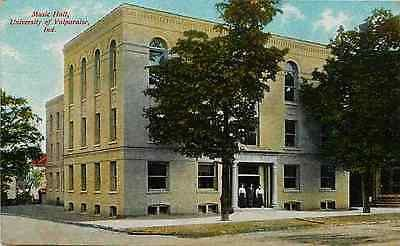 Valparaiso Indiana IN 1908 University of Valparaiso Music Hall Vintage Postcard