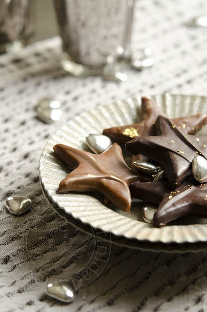 chocolate covered shortbread stars