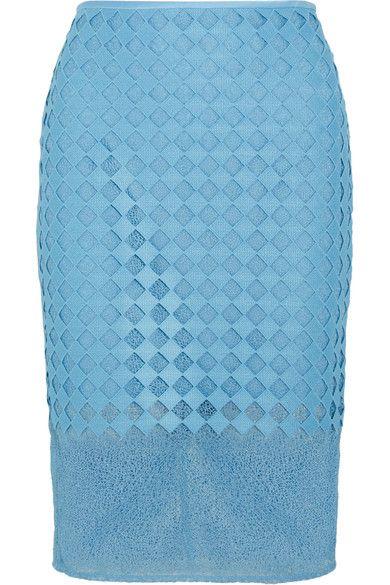 Diane von Furstenberg - Lace Pencil Skirt - Blue - US10