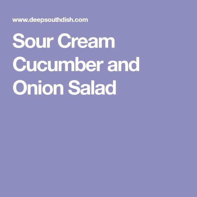Sour Cream Cucumber and Onion Salad