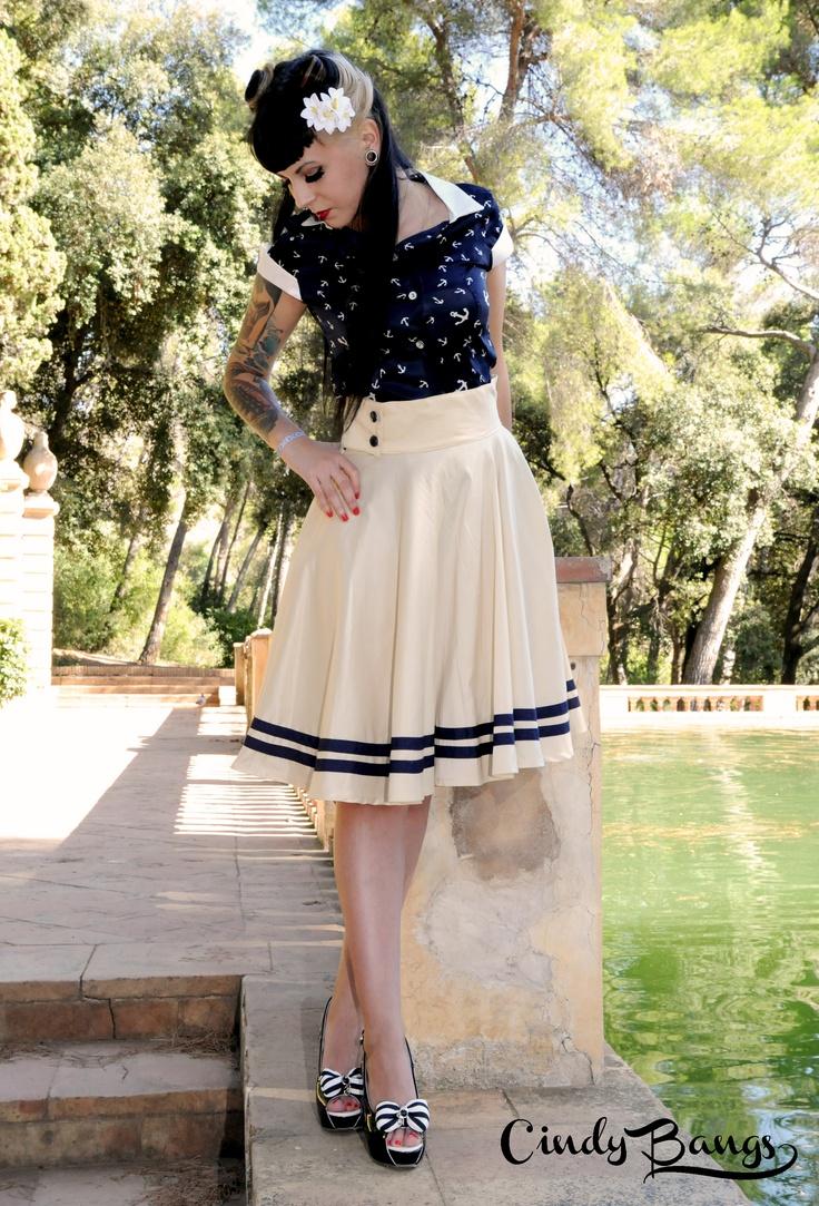 Christine anchor shirt and Bianca Champagne skirt. s/s 2012