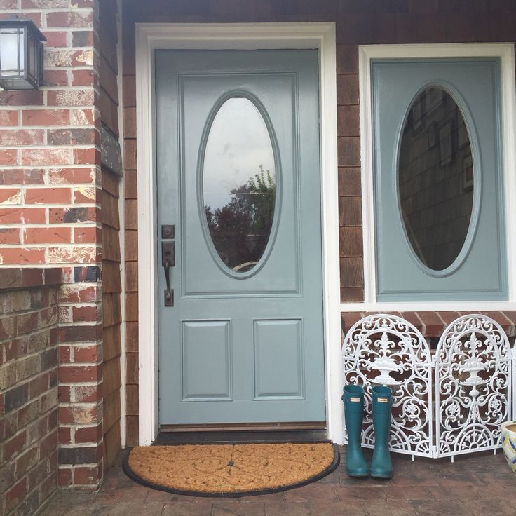 Front Door Oval Room Blue Farrow And Ball House