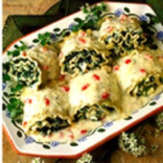 Roulé de lasagne au boursin et au prosciutto
