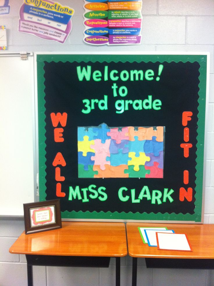 Awesome First Week Of School Bulletin Board, Students Will Add Their Names To The  Puzzle On