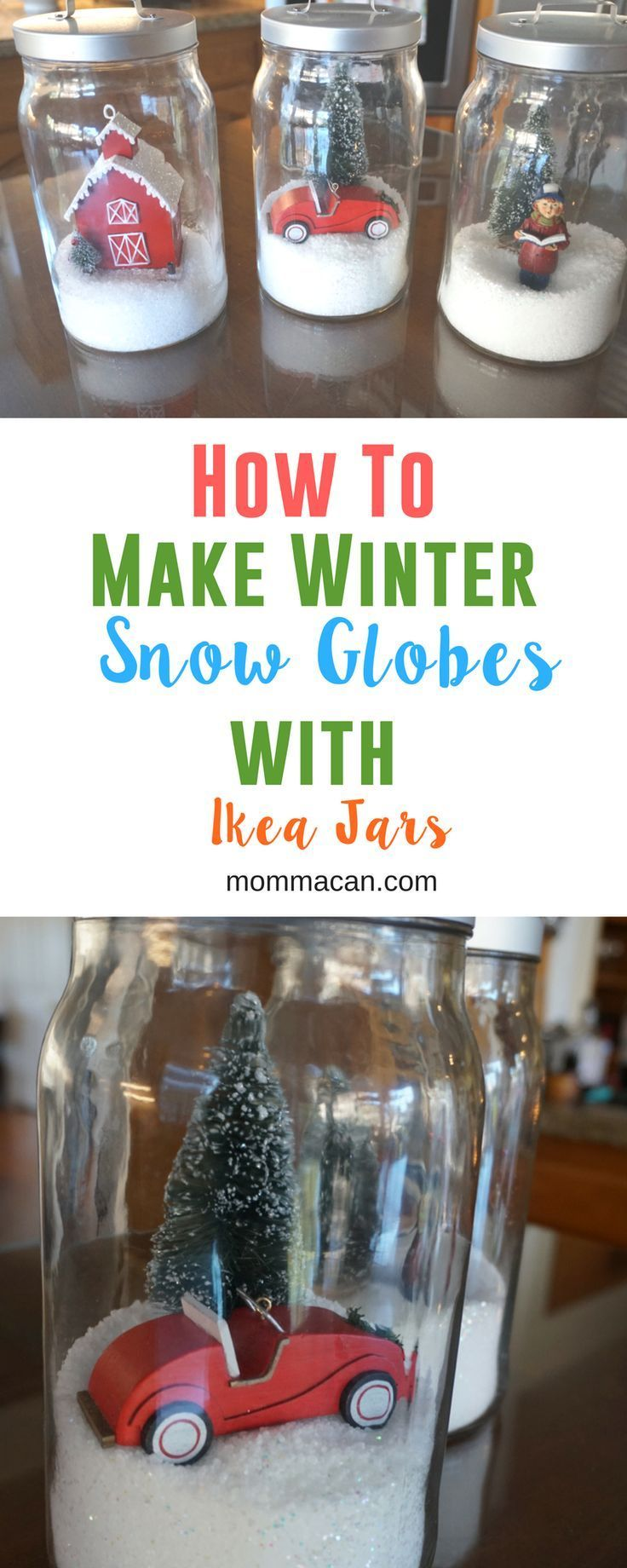 How To Make Winter Snow Globes With