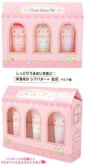 CutieShop | Rakuten Global Market: My melody mini-hand cream gift set ☆ Sanrio die cut cosmetics series ★ black cat DM service impossibility