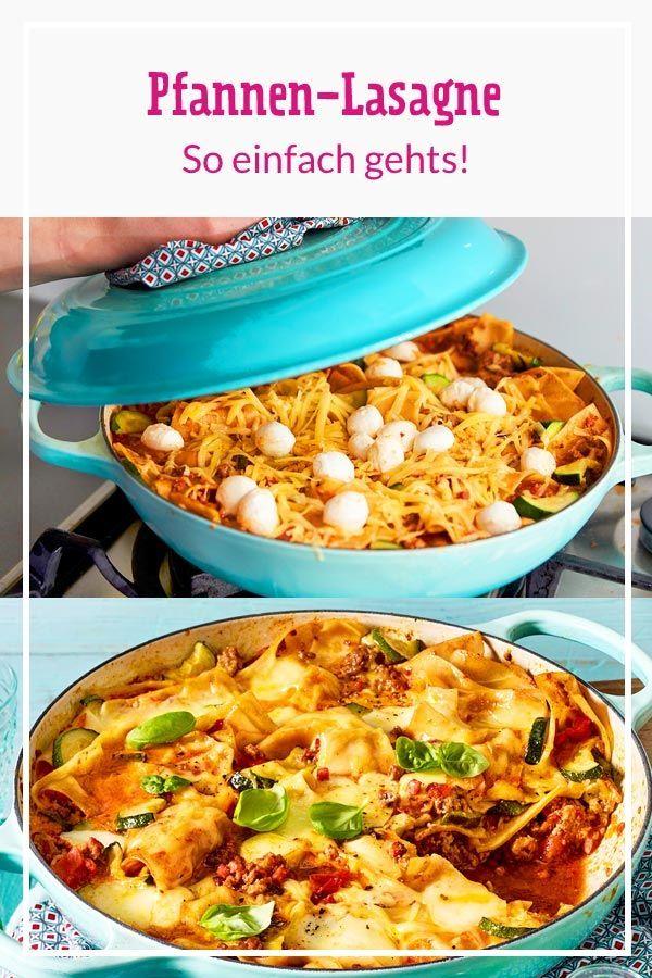 Pfannen-Lasagne – so einfach geht's
