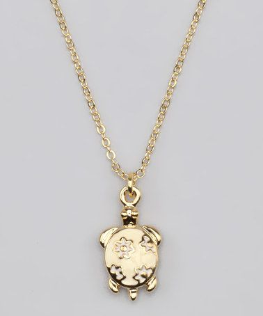 Take a look at this Gold Turtle Necklace by Liliella on #zulily today!